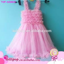2016 beautiful dresses spaghetti ruffle chiffon pink