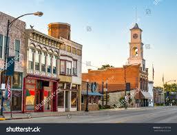 main street quaint classic small town stock photo 631707398