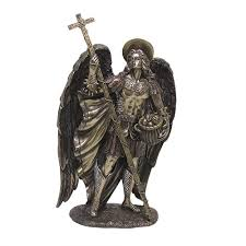 archangel st barachiel bronze resin christian statue