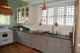 Kitchen Cabinets New York by Gray Painted Kitchen Cabinets Farmhouse Kitchen New York