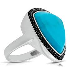 turquoise gemstone lisa bridge turquoise u0026 black sapphire ring ben bridge jeweler
