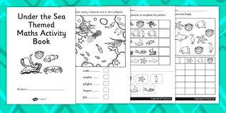 seaside themed ks1 maths activity book sea side numeracy