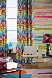 groove curtains u0026 zing wallpaper chevron colour bright retro