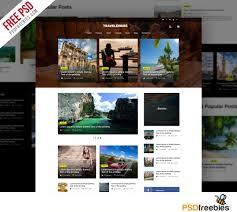 travel blog or magazine free psd template psdfreebies com
