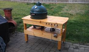 green plans big green egg table