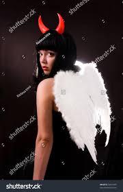 halloween background devil woman angel devil halloween devil stock photo 52812505
