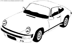 coloriage voiture de sport en course gratuit à colorier voiture