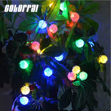 christmas tree solar lights outdoors colorpai 20 led solar string lights outdoor solar energy fairy