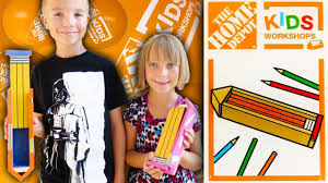 home depot kids workshop build pencil box family vlog 9 2 2017