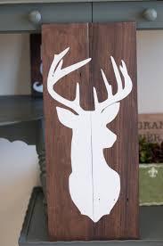 home decor deer head buck silhouette art buck mount wall art