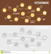 Kitchen Utensils And Tools by Flat Line Illustration Of Kitchen Utensils Household Tools And