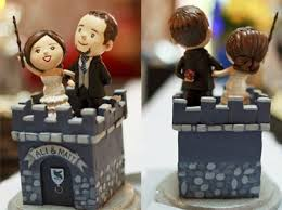 nerdy cake toppers epbot gorgeously geeky harry potter wedding