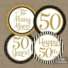 fiftieth anniversary 50th anniversary cupcake toppers fiftieth anniversary black