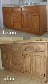 Oak Cabinet Kitchen Makeover - backsplash oak cabinet kitchens oak cabinets dark countertops