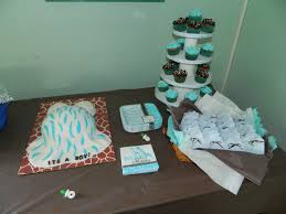 Wild Safari Blue Baby Shower by Blue Wild Safari Belly Cake Cakecentral Com
