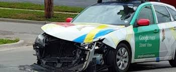 google images car a google street view car crashes shows why google wants driverless