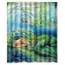 ruffled double swag shower curtain with valance u0026 tie backs light