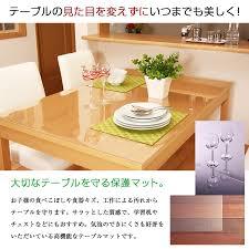 thick clear vinyl table protector a life2010 rakuten global market table mat transparent matt depth