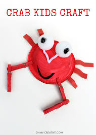 crab kids craft oh my creative