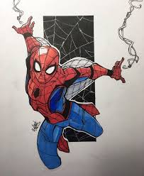 drawn mario spiderman pencil color drawn mario spiderman