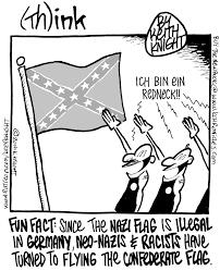 cartoon confederate flag