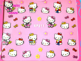 hello kitty nail art stickers how you can do it at home
