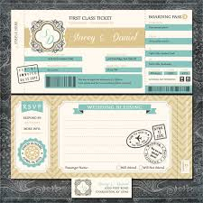 Post Card Invitations Plane Ticket Wedding Invitations Boarding Pass Gold And
