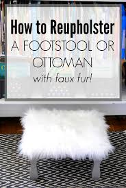 faux fur ottoman with storage how to reupholster an ottoman with faux fur making lemonade