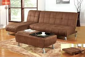 basement evita dark brown futon sofa sleeper bed w cup holder