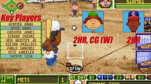 backyard baseball gba game 9 cubs vs mets youtube