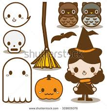 halloween clipart cute collection collection cute halloween icon vol1 stock vector 328609376