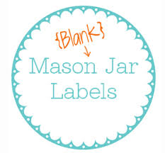 6 best images of mason jar label printable template printable