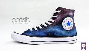 Sepatu Converse Pic custom painted shoes galaxy converse partystic