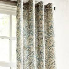 Teal Curtains Seasons Paisley Teal Grommet Curtain Pier 1 Imports