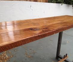 Dining Table Natural Wood Industrial Dining Table The Coastal Craftsman