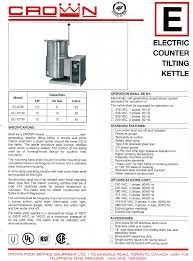 crown equipment beverage maker ec 10tw user guide