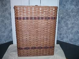 amazon com primitive country hamper basket with lid this