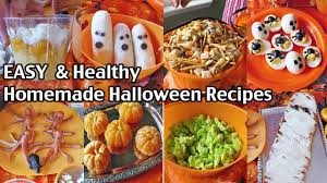 easy and healthy homemade halloween food ideas halloween