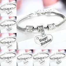 silver crystal heart bracelet images Crystal heart bracelets family daddy mommy nana sister best jpg