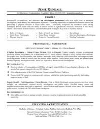 Sample Resume Personal Objectives by Objective For Law Enforcement Resume Free Resume Example And