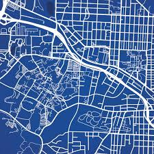 Udel Campus Map Map Art Of College Campuses City Prints Map Art