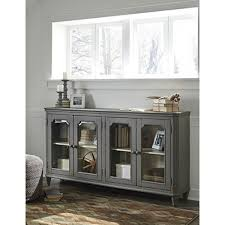 accent cabinet with glass doors ashley furniture mirimyn antique gray accent cabinet with 4 framed