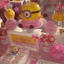minion baby shower ideas girl birthday party ideas 4 year in astounding birthday