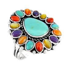 multi ring bracelet images Sterling silver turquoise ring jpg