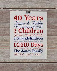 40 year anniversary gift best 25 40 year anniversary gift ideas on diy 40th