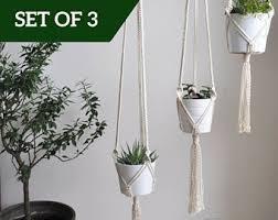 White Hanging Planter by Hanging Planter Etsy