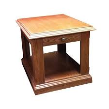 Oak End Tables Sd 3160ro Cs Sedona Rustic Oak Chairside Table With Slate Inlay Top