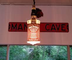 whiskey bottle hanging lamp 4 steps