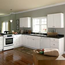 decor hampton bay flooring matched with cabinets and black