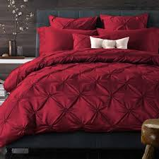 Red Duvet Set Luxury Red Pintuck Pinch Pleat Duvet Cover Set Beautiful Bedroom